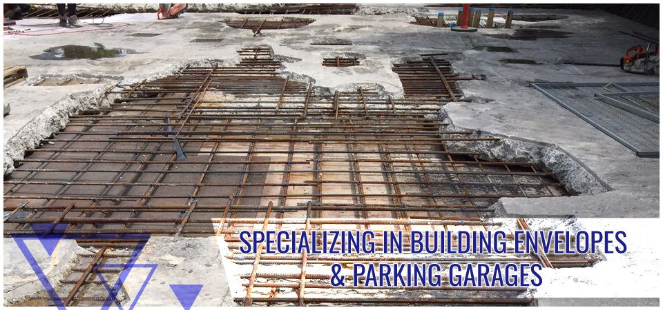 Specializing in Building Envelopes & Parking Garages -concrete cutting
