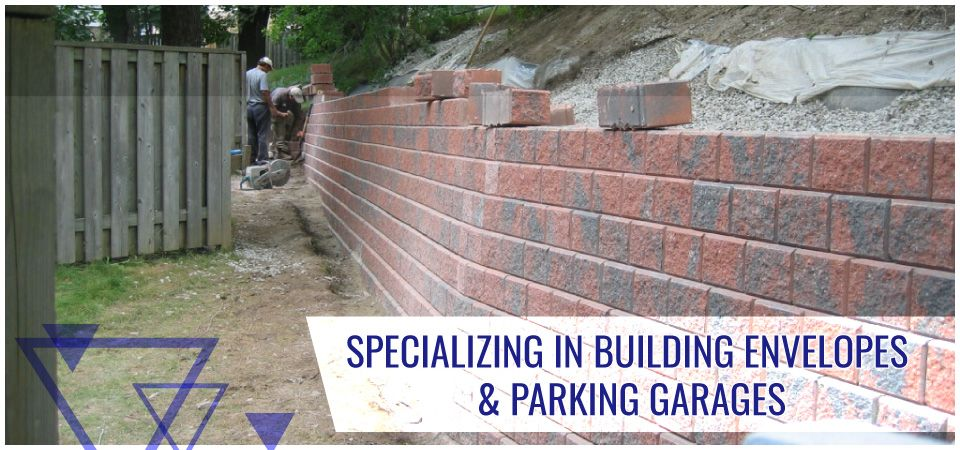 Specializing in Building Envelopes & Parking Garages -wall